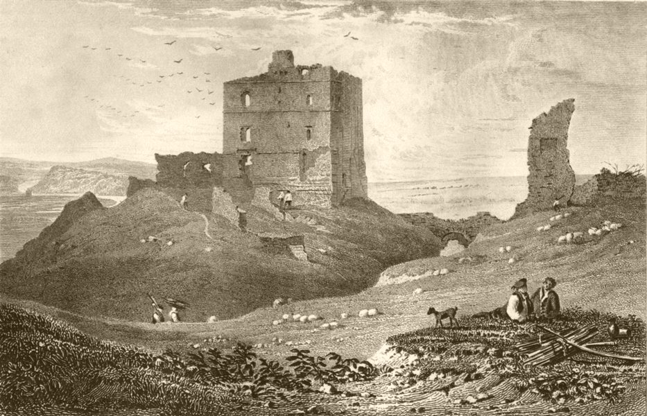 Associate Product NORTHUMBERLAND. Norham Castle, Northumberland. DUGDALE 1845 old antique print