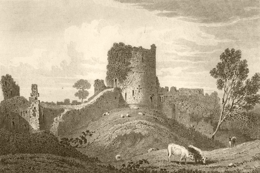 Associate Product MONMOUTH. Caldicote Castle, Monmouthshire. DUGDALE 1845 old antique print