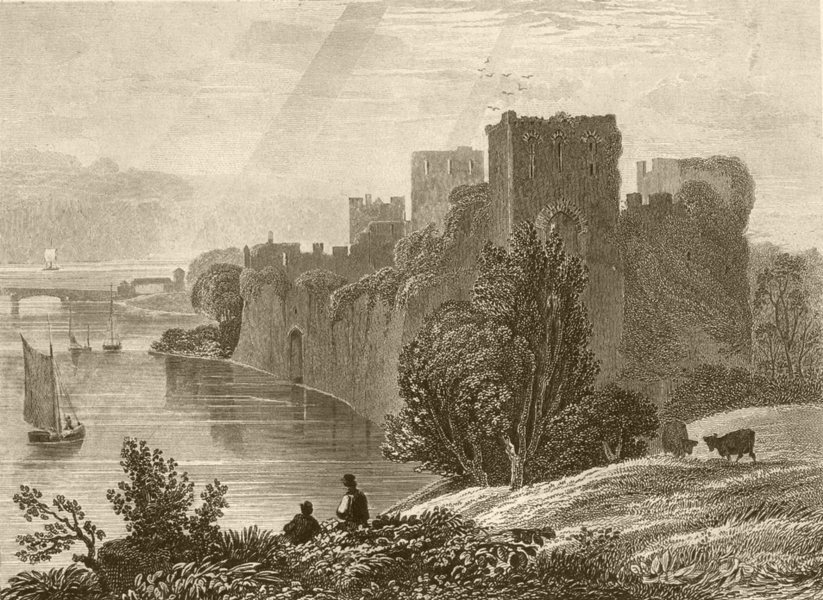 Associate Product WALES. Chepstow Castle, Monmouthshire. DUGDALE 1845 old antique print picture