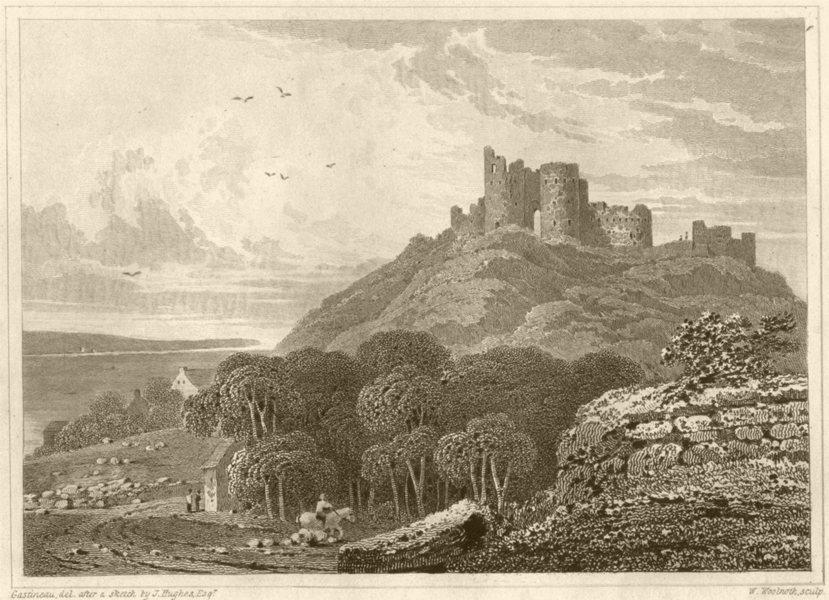 Associate Product WALES. Cricieth Castle, Caernarvonshire. DUGDALE 1845 old antique print