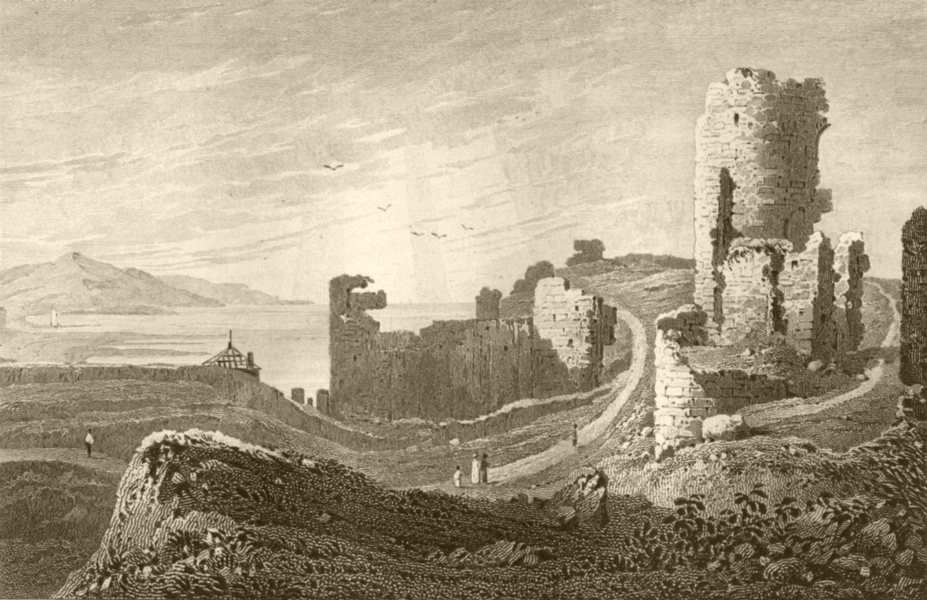 Associate Product WALES. Aberystwyth Castle, Cardiganshire. DUGDALE 1845 old antique print