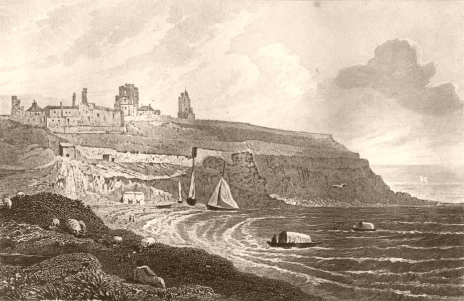 Associate Product NORTHUMBERLAND. Tynemouth Castle, Northumberland. DUGDALE 1845 old print
