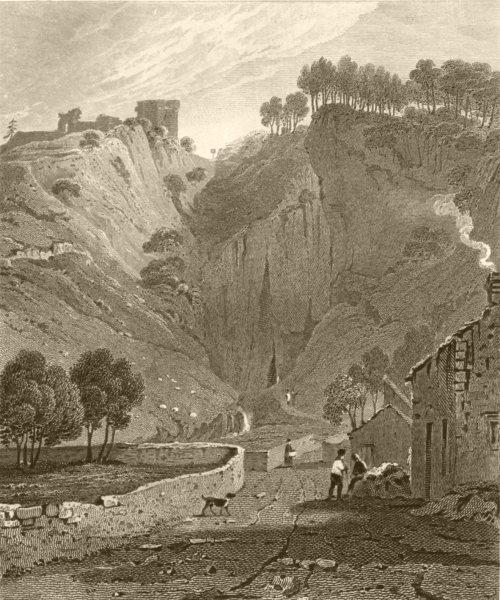 Associate Product DERBYSHIRE. Peverel Castle, Derbyshire. DUGDALE 1845 old antique print picture