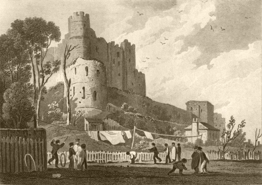 Associate Product KENT. Rochester Castle. DUGDALE 1845 old antique vintage print picture