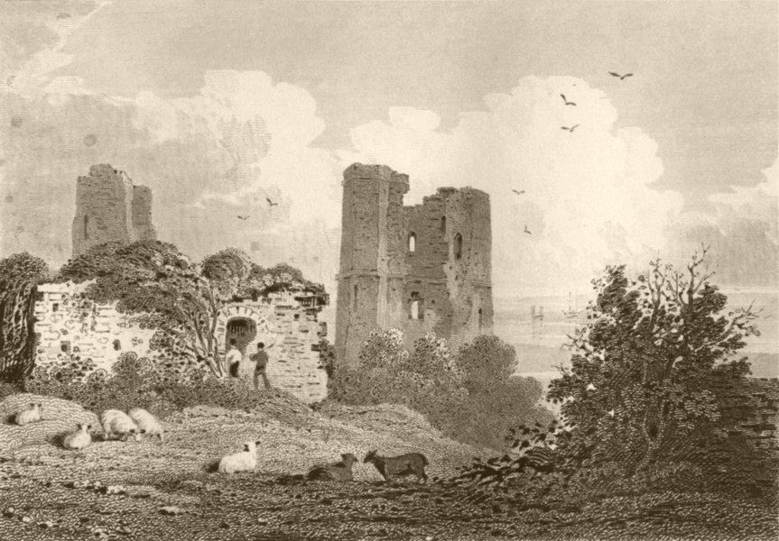 Associate Product LONDON. Hadley Castle, Essex. DUGDALE 1845 old antique vintage print picture