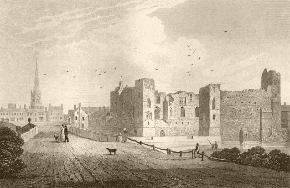 Associate Product NOTTINGHAMSHIRE. Newark Castle, Nottinghamshire. DUGDALE 1845 old print