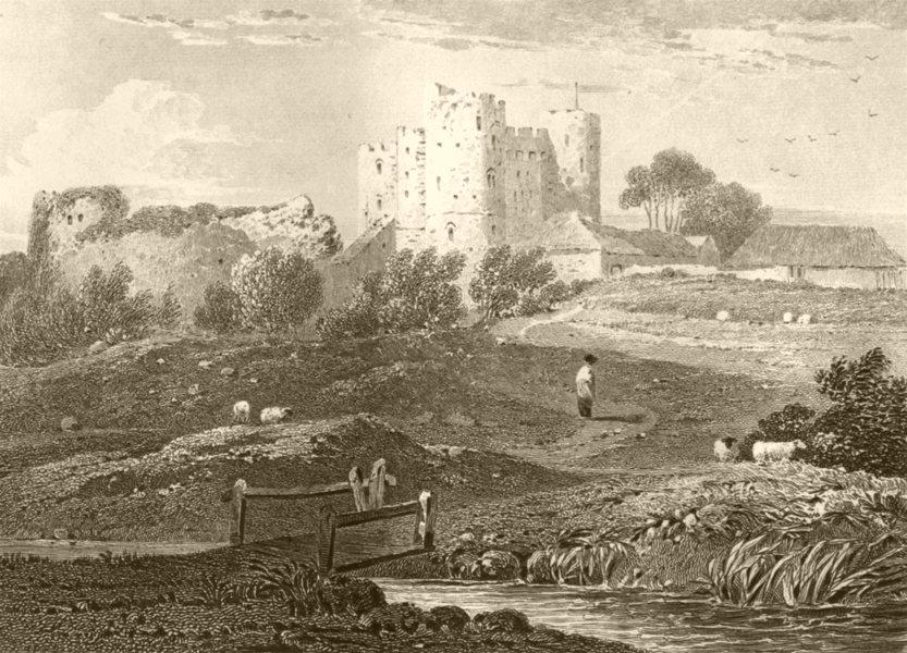 Associate Product KENT. Saltwood Castle. DUGDALE 1845 old antique vintage print picture