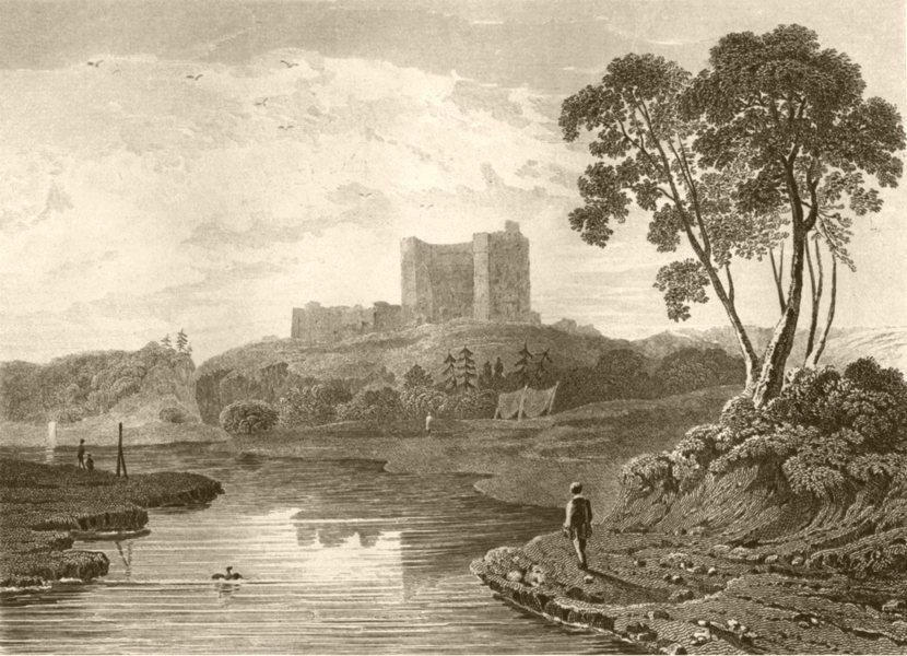 Associate Product NORTHUMBERLAND. Norham Castle. DUGDALE 1845 old antique vintage print picture