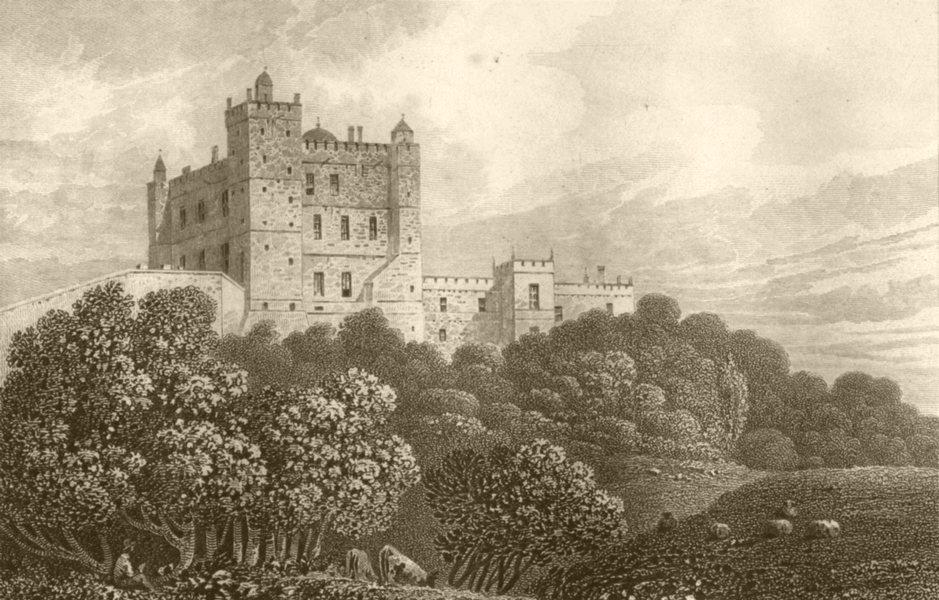 Associate Product DERBYSHIRE. Bolsover Castle. DUGDALE 1845 old antique vintage print picture