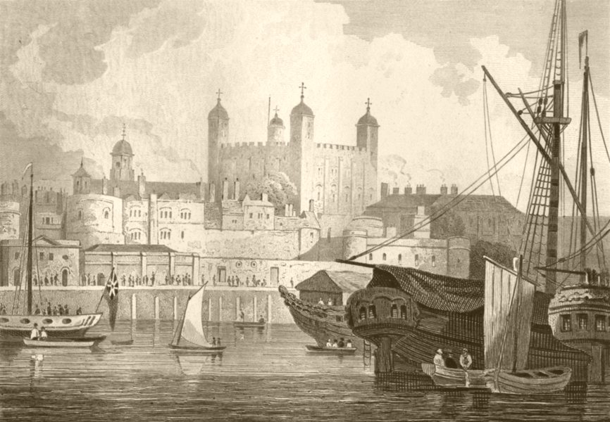 Associate Product LONDON. The Tower of London. DUGDALE 1845 old antique vintage print picture