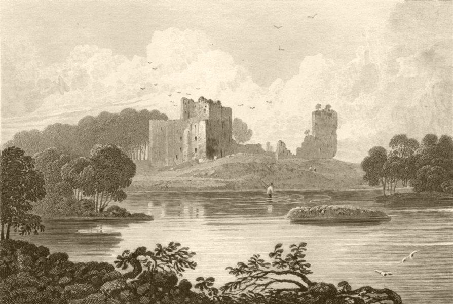 Associate Product CUMBRIA. Brougham Castle, Westmorland. DUGDALE 1845 old antique print picture