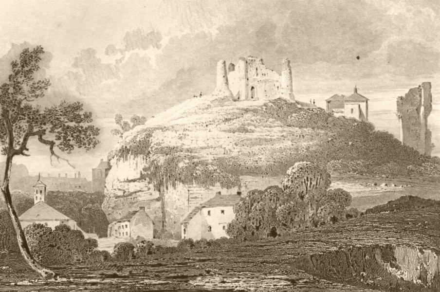 Associate Product YORKSHIRE. Knaresborough Castle, Yorkshire. DUGDALE 1845 old antique print