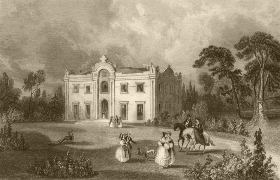 Associate Product SUFFOLK. Theberton House the seat of Thos Gibson Esq. DUGDALE 1845 old print