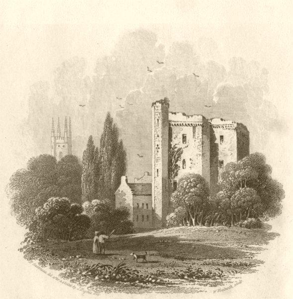 Associate Product WALES. Cardiff Castle. DUGDALE 1845 old antique vintage print picture