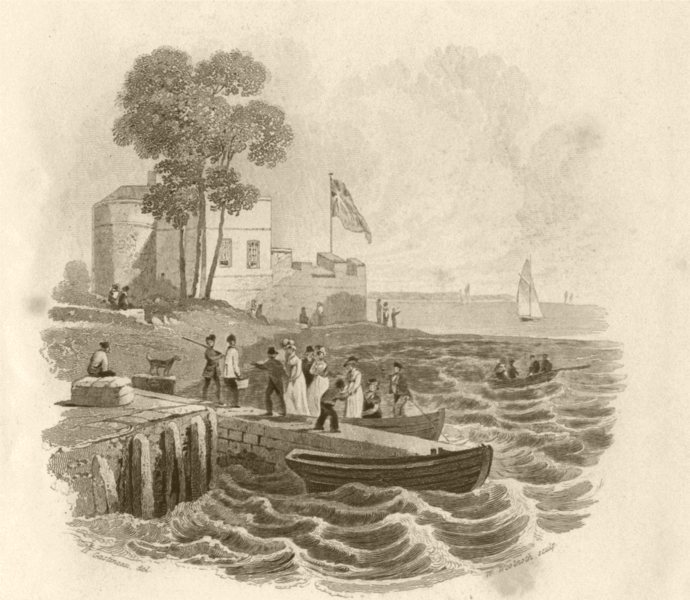 Associate Product ISLE OF WIGHT. Cowes Castle. DUGDALE 1845 old antique vintage print picture