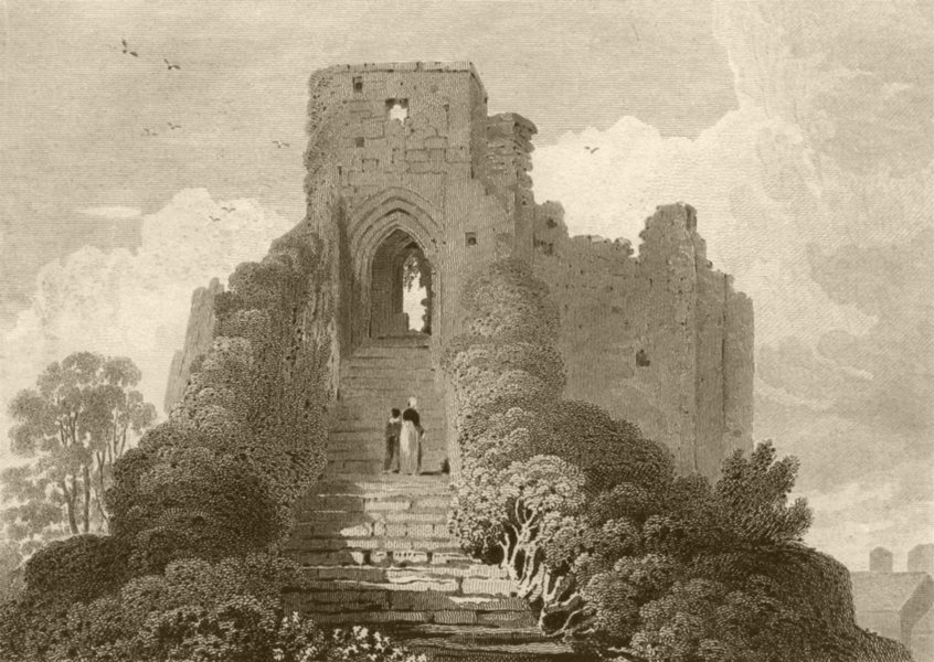 Associate Product ISLE OF WIGHT. Carisbrooke Castle. DUGDALE 1845 old antique print picture