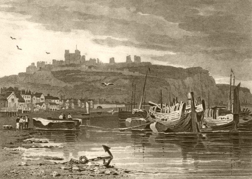 Associate Product KENT. Dover Castle. DUGDALE 1845 old antique vintage print picture