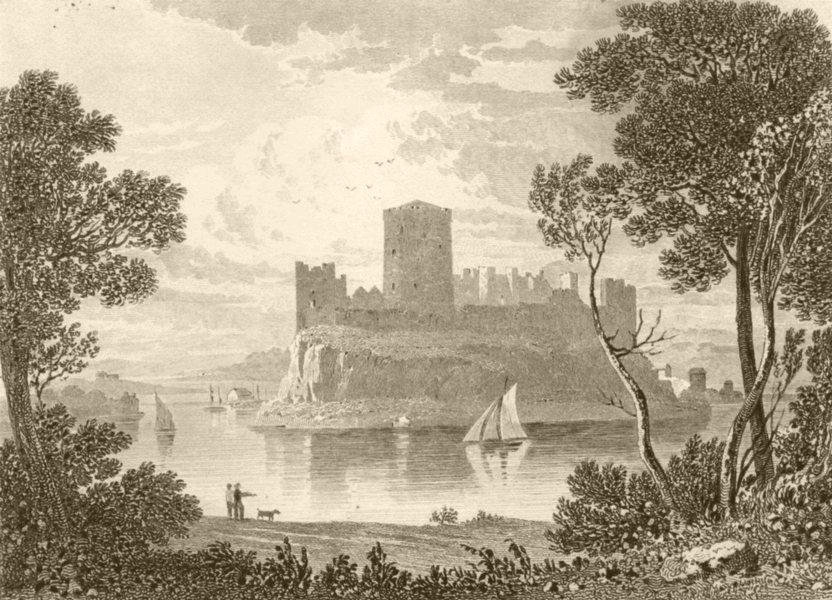 Associate Product WALES. Pembroke Castle. DUGDALE 1845 old antique vintage print picture