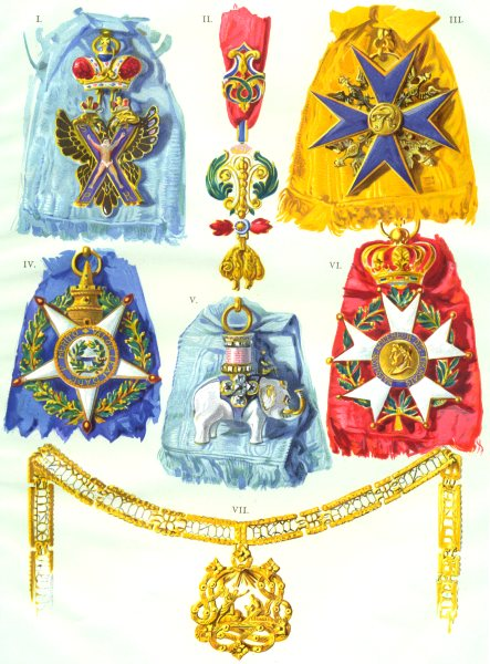 MEDALS. St Andrew-Russia;Golden Fleece-Spain;Black Eagle-Prussia;Annunziata 1910