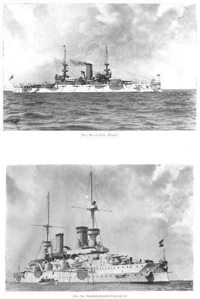 Associate Product SHIPS. U S A Illinois; German Kaiser Frederick III 1910 old antique print