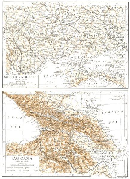 Associate Product UKRAINE & CAUCASIA. Georgia Southern Russia Azerbaijan 1910 old antique map