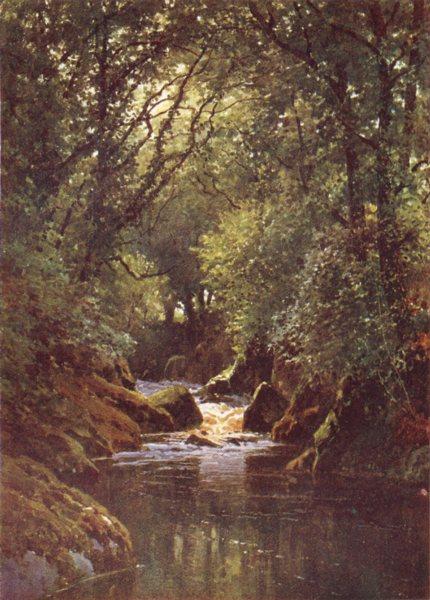 Associate Product DEVON. The Erme, Ivy bridge, Devon 1908 old antique vintage print picture