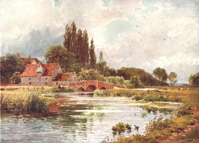 ESSEX. The Stour, near Dedham, Essex 1908 old antique vintage print picture