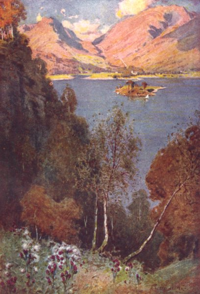 Associate Product CUMBRIA. Lake district. A Glimpse of Grasmere evening sun 1908 old print