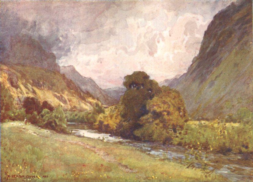 Associate Product CUMBRIA. Lake district. The Vale of St John, near Keswick 1908 old print