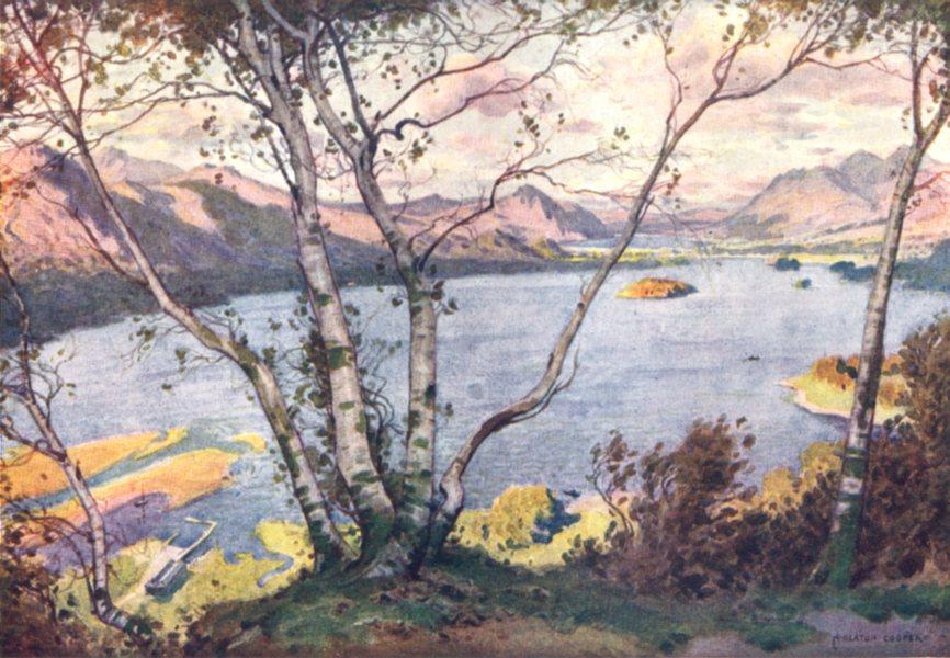 Associate Product CUMBRIA. Lake district. Derwent Water & Bassenthwaite Lake from High lodore 1908