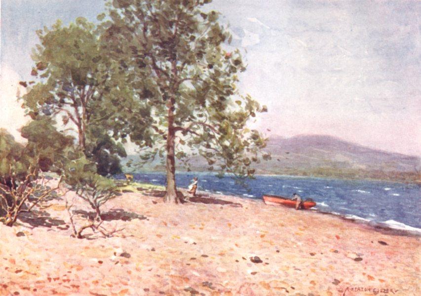 Associate Product CUMBRIA. Lake district. Bassenthwaite Lake a breezy morn 1908 old print