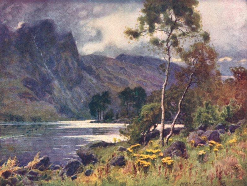 Associate Product CUMBRIA. Lake district. Raven Crag, Thirlmere 1908 old antique print picture