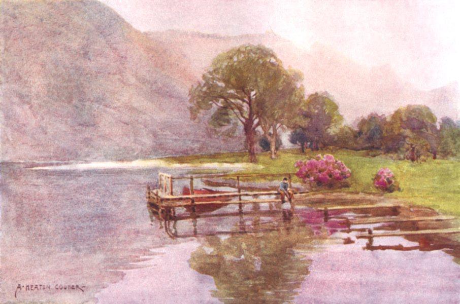 Associate Product CUMBRIA. Lake district. Hazy Twilight, head of Ullswater 1908 old print