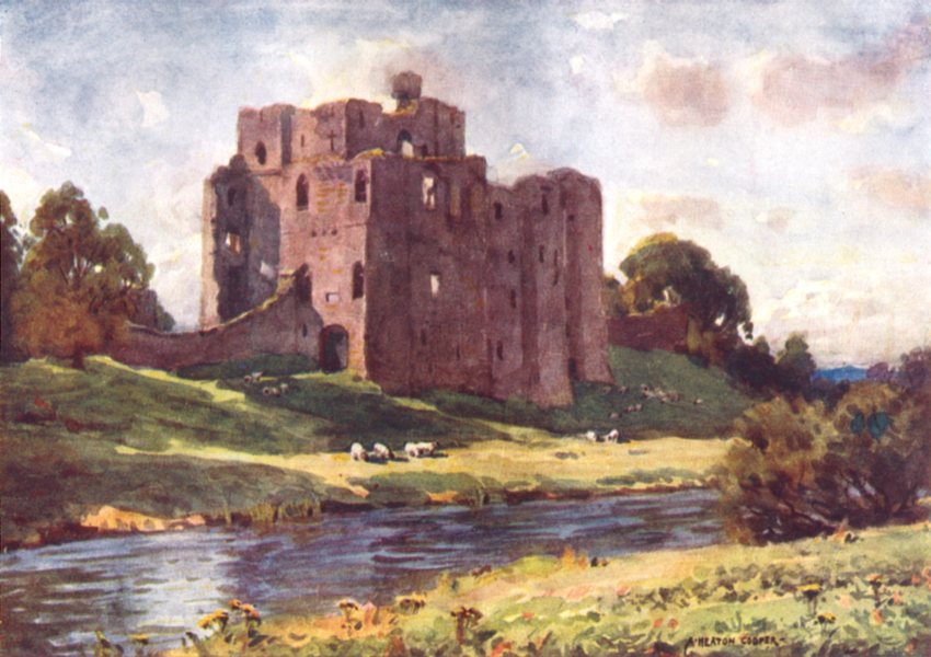 Associate Product CUMBRIA. Lake district. Brougham Castle, Penrith 1908 old antique print