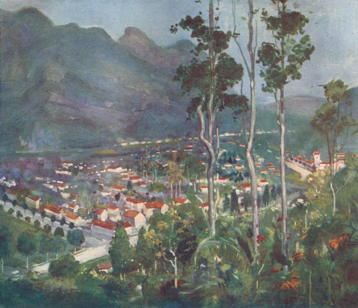 Associate Product BRAZIL. Friburgo(Freiburg) Organ Mountains 1908 old antique print picture