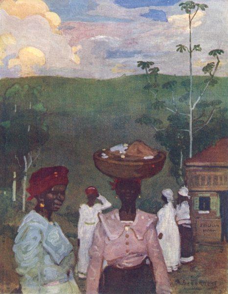 Associate Product BRAZIL. Evening Scene at Pirapora, Minas Geraes 1908 old antique print picture