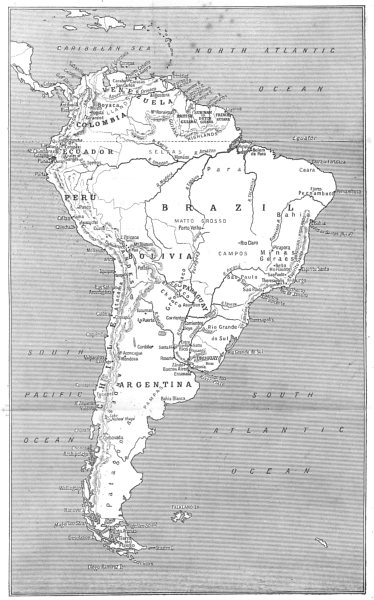 Associate Product SOUTH AMERICA. Sketch map of South America 1908 old antique plan chart