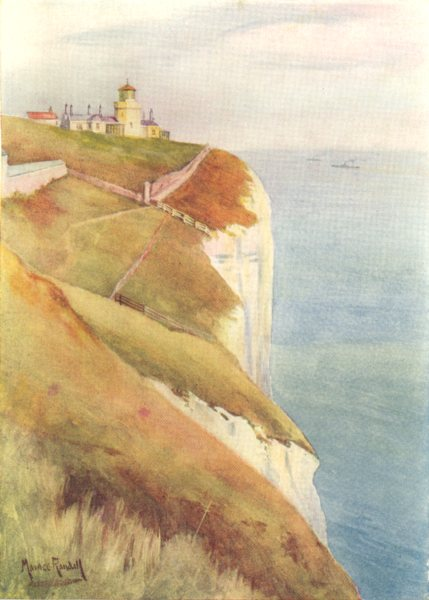 Associate Product KENT. South Foreland 1908 old antique vintage print picture