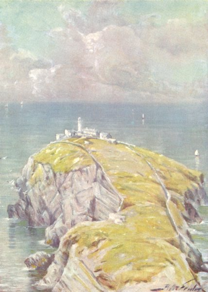 Associate Product WALES. The Stack, Holyhead 1905 old antique vintage print picture