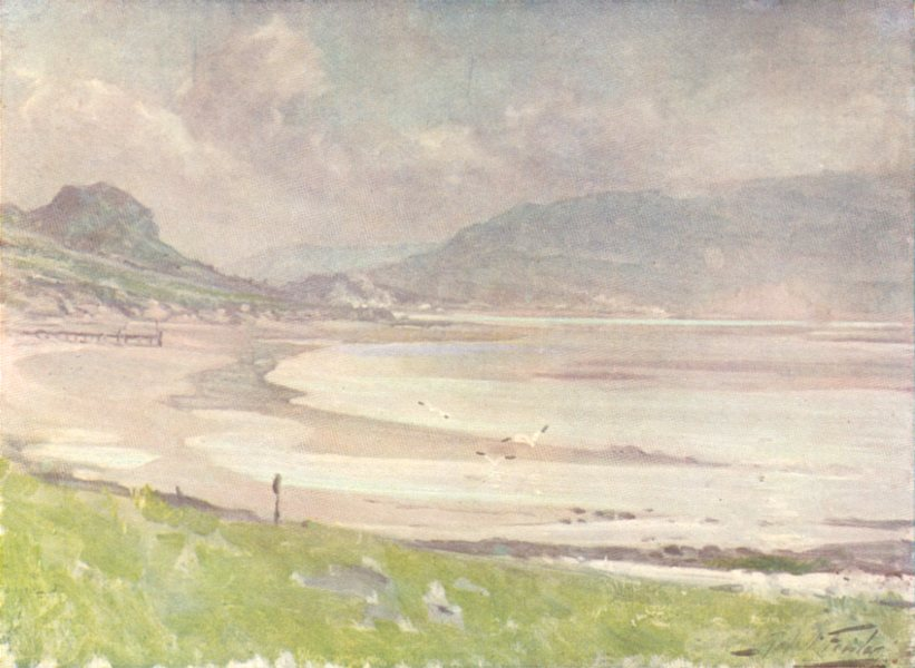 Associate Product WALES. Silvery Light, Conwy Shore 1905 old antique vintage print picture