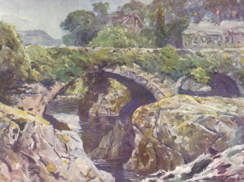 Associate Product WALES. The Old Bridge, Betws-y-Coed 1905 antique vintage print picture