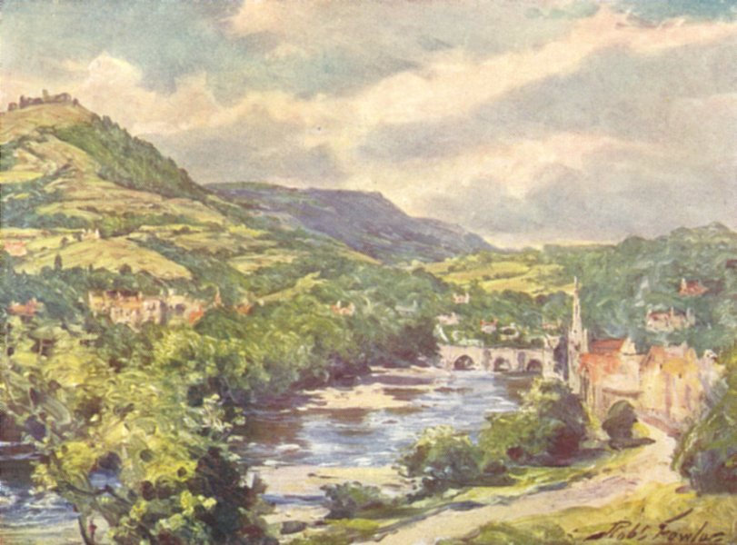 Associate Product WALES. View of Llangollen 1905 old antique vintage print picture
