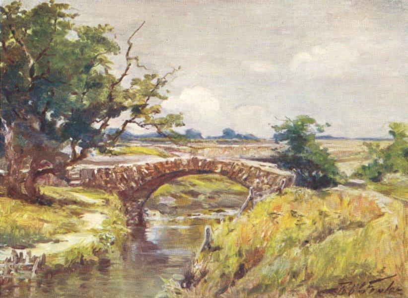 Associate Product WALES. Old Roman Bridge, near Swansea 1905 antique vintage print picture