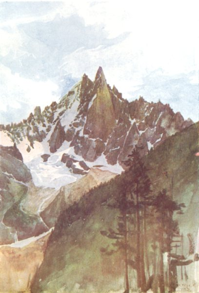 Associate Product FRANCE. The Spirit of the Mountains. The Aiguille Verte and Aiguille du Dru 1917