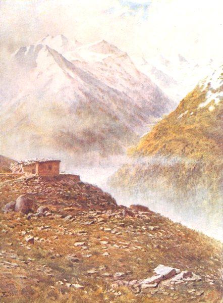 Associate Product SWITZERLAND. Mountains in the Engadin-Muottas Muraigl 1917 old antique print