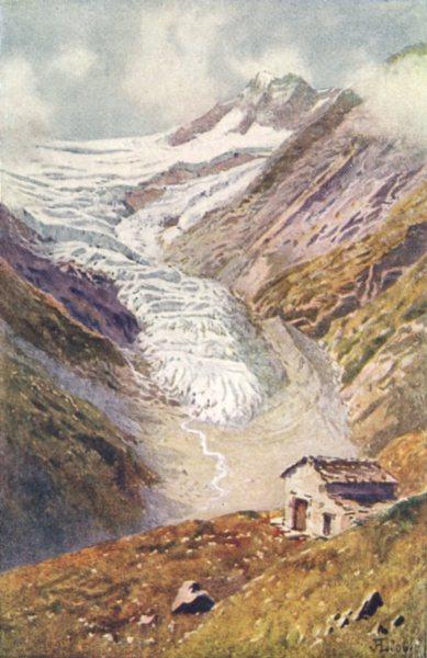 Associate Product SWITZERLAND. The Palu Glacier 1917 old antique vintage print picture