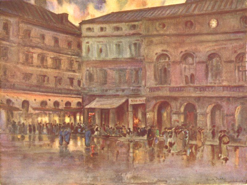 PYRÉNÉES-ATLANTIQUES. Basque country. Place de la Liberte, Bayonne 1921 print