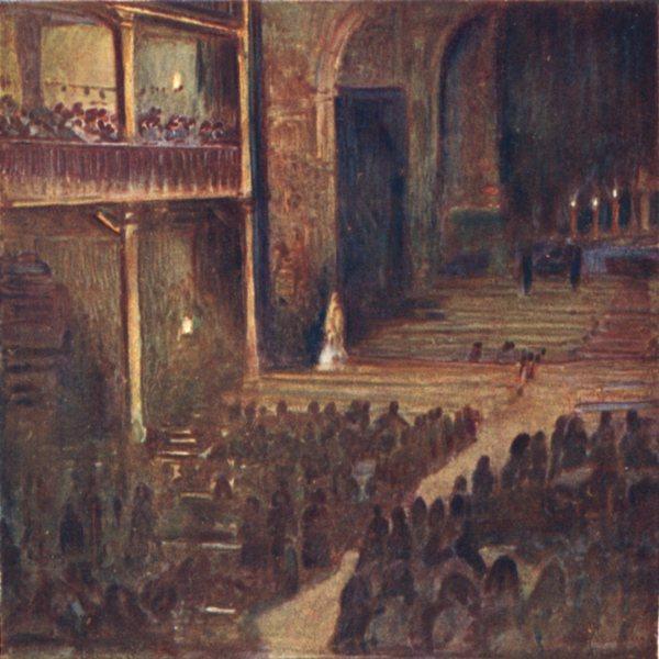 Associate Product PYRÉNÉES-ATLANTIQUES. Good Friday evening, Church St Jean Baptiste, de Luz 1921