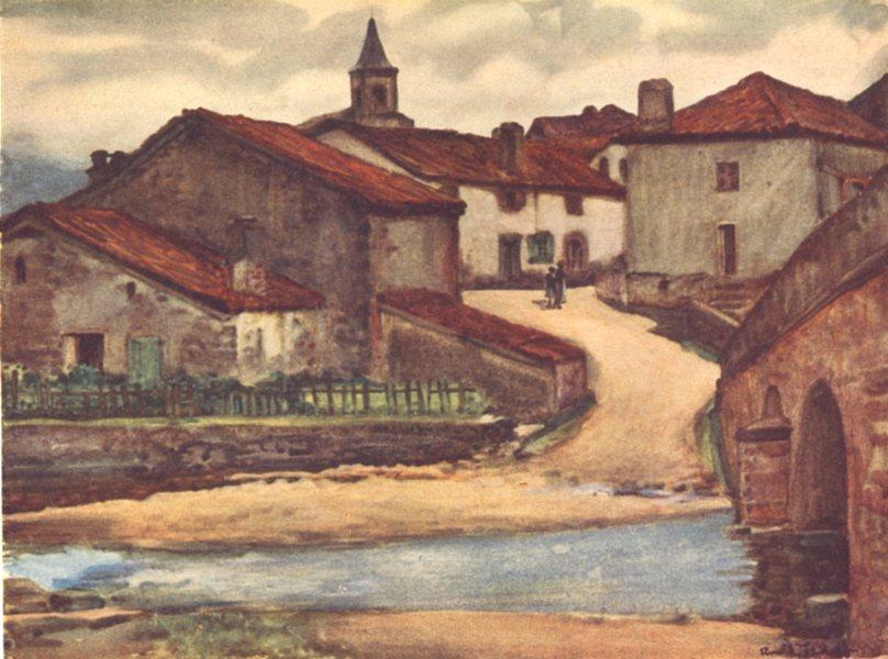 Associate Product PYRÉNÉES-ATLANTIQUES. Basque country. A Basque Village 1921 old print