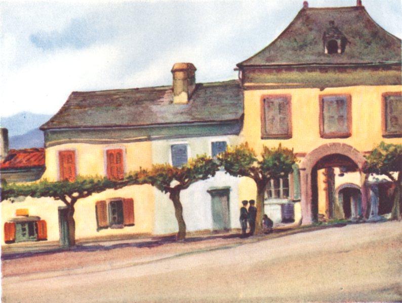 Associate Product PYRÉNÉES-ATLANTIQUES. Basque country. St Jean-Pied-de-Port 1921 old print